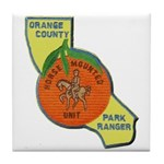 Orange County Mounted Ranger Tile Coaster