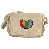 LOVE Heart Messenger Bag