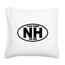 New Hampshire Live Free or Die Square Canvas Pillo