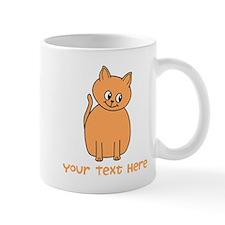Orange Cat, Custom Text. Mug