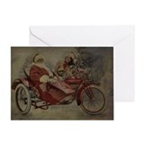 Vintage Biker Santa Christmas Greeting Card