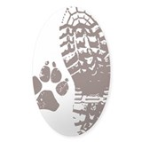 Hiking Boot n Paw Sticker Full Bleed