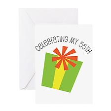 Celebrating My 55th Birthday Greeting Card