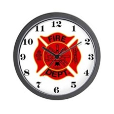 Maltise Cross Fire House Wall Clock