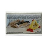 Hail Chickenfish Prayer Rectangle Magnet