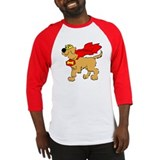 Golden Retriever Super Hero Baseball Jersey