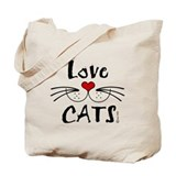 Love CATS Whiskers Tote Bag
