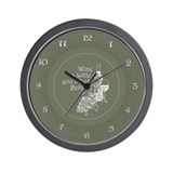 Wine Time (Ver 2) Wall Clock