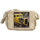 Yellow muscle car Messenger Bag
