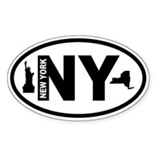 New York Statue of Liberty and Map Decal