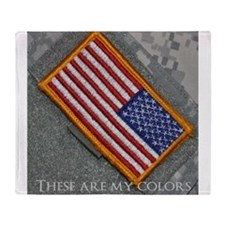 These are my colors Throw Blanket