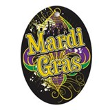 Mardi Gras Design B Ornament (Oval)