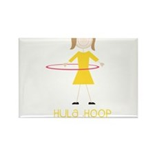 Hula Hoop Princess Rectangle Magnet