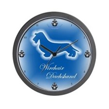 Cute Wire haired dachshund Wall Clock