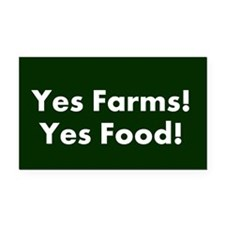 Funny Yes Rectangle Car Magnet