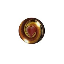 Unique Plain heart Mini Button (100 pack)