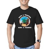 Save a Tractor Ride a Farmer Women's Black T-Shirt