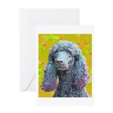 Cute Poodle art Greeting Card