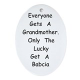 Babcia Ornament (Oval)