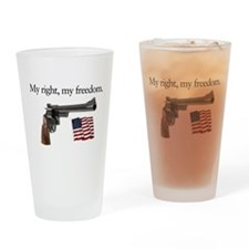 Second amendment my right my freedom Drinking Glas