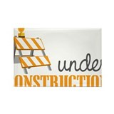 Under Construction Rectangle Magnet