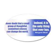 Funny Change the world Wall Decal