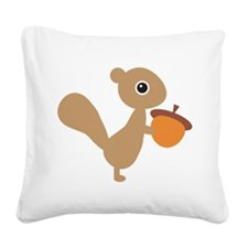 Squirrel Square Canvas Pillow