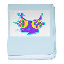 p u s s y Q (3D) baby blanket