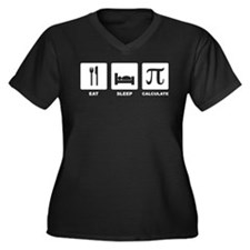 Eat Sleep Calculate Plus Size T-Shirt
