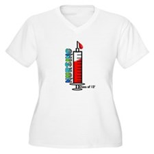 giant syringe blue Plus Size T-Shirt