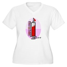 Giant syringe pinks Plus Size T-Shirt