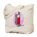 Giant syringe pinks Tote Bag