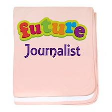 Future Journalist baby blanket