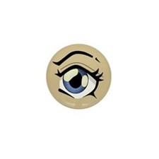 Manga Eye Mini Button