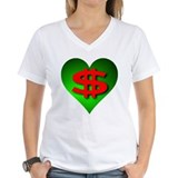 Green Money Heart Shirt
