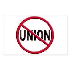 Anti-Union Rectangle Decal