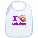 I Love Memere Fench Grandmother Bib