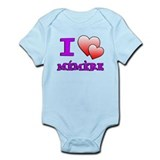 I Love Memere Fench Grandmother Body Suit