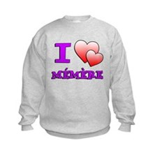 I Love Memere Fench Grandmother Sweatshirt