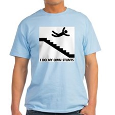 Strairs, I Do All My Own Stunts Ash Grey T-Shirt