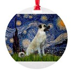 Starry-AnatolianShep 2 Round Ornament