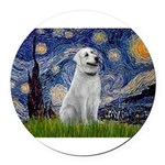Starry-AnatolianShep1 Round Car Magnet