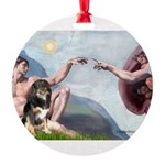 CREATION-Aussie-Tri-Lucy.png Round Ornament