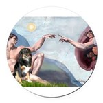CREATION-Aussie-Tri-Lucy.png Round Car Magnet