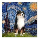 TILE-Starry-Aussie2.png Square Car Magnet 3
