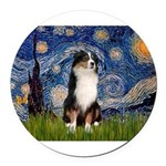 TILE-Starry-Aussie2.png Round Car Magnet