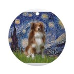 PILLOW-Starry-Aussie4-K.png Ornament (Round)