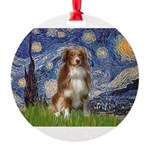 PILLOW-Starry-Aussie4-K.png Round Ornament