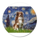 PILLOW-Starry-Aussie4-K.png Round Car Magnet