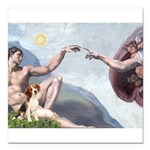 5.5x7.5-Creation-Beagle1.png Square Car Magnet 3